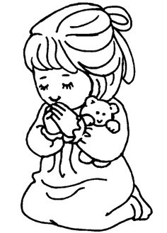 praying coloring pages preschool   top kids corner coloring pages ...