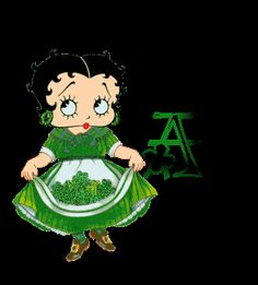 Irish Betty Boop Happy St. Patrick's Day Animated Alphabet Gif Photo:  This Photo was uploaded by miss_bo_peep. Find other Irish Betty Boop Happy St. Pat...