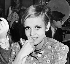 Twiggy goes to a party given for her at Photographer Bert Stern's Midtwon Studio // March 23, 1967 // Photos by Jerry Engel