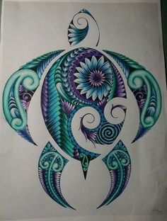 Tribal tattoos are of antiquity and had a deep meaning. Tribal tattoos can be described as designs that represent the traditional practices of indigenous peoples from different parts of the world. Hawaiian Turtle Tattoos, Tribal Turtle Tattoos, Tribal Tattoos For Women, Tattoos Skull, Leg Tattoos, Body Art Tattoos, Sleeve Tattoos, Tattoos For Guys, Cool Tattoos