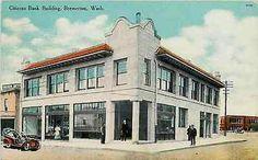 Bremerton Washington WA 1908 Citizens Bank Collectible Antique Vintage Postcard - Moodys Vintage Postcards - 1