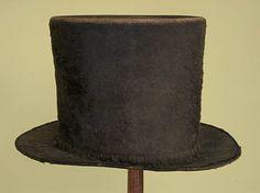 Gent's Wool Top Hat. England, 1820-1830