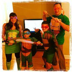 59 homemade diy teenage mutant ninja turtle costumes pinterest family halloween costume idea teenage mutant ninja turtles solutioingenieria Image collections