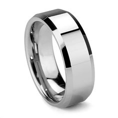 Tungsten Ring Direct - Tungsten Ring for Men, Classy Design with High Polish Flat Top and Bevel Edge, 8MM, $22.99 (http://www.tungstenringdirect.com/tungsten-ring-for-men-classy-design-with-high-polish-flat-top-and-bevel-edge-8mm/)