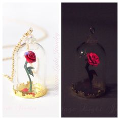 The new rose necklaces have been listed! I spent many hours designing and… Disney Inspired Jewelry, Rose Necklace, Vintage Lighting, Jewerly, Christmas Bulbs, Necklaces, Holiday Decor, Instagram Posts, Diy
