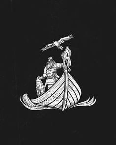 Norse Mythology Tattoo, Norse Tattoo, Viking Tattoos, Viking Symbols, Viking Art, Viking Warrior, Future Tattoos, Tattoos For Guys, Traditional Tattoo Black And White