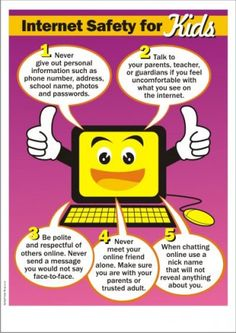 Kids Safety - The Internet is a wonderful resource for kids for researching school reports, communicating with teachers, staying in touch with friends, and entertaining themselves. They can literally hit a few k… Internet Safety For Kids, Safe Internet, Kids Safety, Cyber Safety For Kids, Safety Games, Computer Lessons, Computer Lab, Computer Teacher, Computer Science
