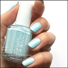 "Essie's ""Blue-La-La "" polish/shellac from its Summer 2017 collection. Pretty, ice blue!"
