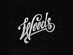 Woods by Jeremy Teff Hand Drawn Type, Hand Drawn Lettering, Types Of Lettering, Script Lettering, Typography Letters, Typography Logo, Lettering Design, Handwritten Type, Calligraphy