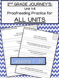 Journeys aligned unit 2 grammar test journeys proofreading practice for all units 1 6 2nd grade sciox Choice Image
