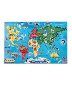 Look what I found on #zulily! Melissa & Doug World Map Floor Puzzle by Special Needs #zulilyfinds