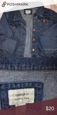 644360761d76 Jean jacket Worn once so basically new! Forever 21 Jackets   Coats Jean  Jackets