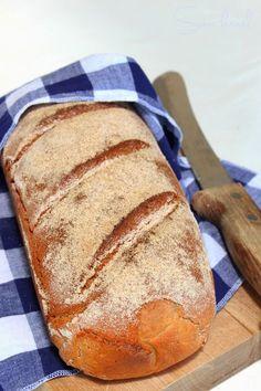 Sünis kanál: Rozskenyér How To Make Bread, Kenya, Bread Recipes, Hamburger, Food And Drink, Homemade, Breads, Baguette, Brot