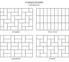 Otthon és dekor: Metró csempe: különleges felrakási módok
