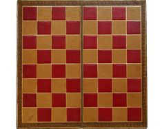 Gilt Leather Folding Chess Board, circa 1900 - Decorative Collective Antiques Online, Selling Antiques, Chess Squares, Saved Items, Boards, Games, Toys, Leather, Decor