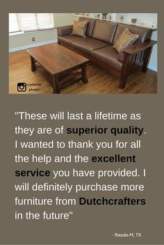 Attrayant Add American Made Amish Furniture To Your Home! Shop A Large Selection Of  Solid Wood Amish Furniture And Buy At A+ Rated DutchCrafters With Down!