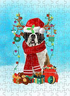 Saint Bernard Dog in Snow Jigsaw Puzzle, Christmas, 1000 Pieces Jigsaw Puzzle PrintYmotion #Saint Bernard #Dog Lovers gift #Christmas Gift #Christmas Puzzle Christmas Jigsaw Puzzles, Christmas Puzzle, Christmas Dog, Christmas Ideas, Lovers Gift, Dog Lovers, Dog Puzzles, St Bernard Dogs, Basset Hound Dog