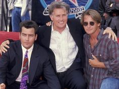 Pin for Later: Famous Stars and Their Famous Dads Martin Sheen, Charlie Sheen, and Emilio Estevez Martin Sheen, Charlie Sheen, Celebrity Siblings, Celebrity Dads, Celebrity Pictures, Hooray For Hollywood, Hollywood Walk Of Fame, In Hollywood, Emilio Estevez