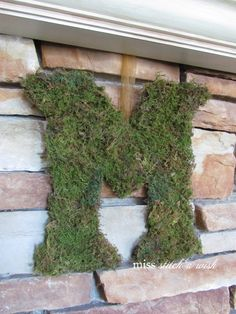 make a moss letter { initial } ~ real easy & cheap!