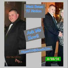 This before and after pic truly brings tears to my eyes of my amazing brother!!!  I am sooo proud of him to see how far he has come these past 11 months and glad he trusted me and took a leap of faith and started Nutritional Cleansing.  You look great and HEALTHY, keep it up Matsooo!!!