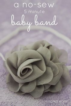 No-Sew, 5 minute Baby Flower Headband by Migonis Home