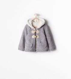 ZARA - NEW THIS WEEK - FLEECE-LINED HOODED COAT WITH TOGGLES