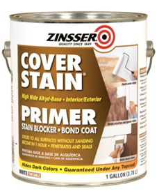 Love this stuff. Just painted a laminate dresser with this and then painted over it. No sanding needed. Great coverage.