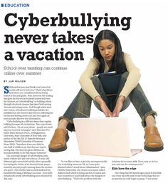 Cyber-Bullying never takes a vacation. Stop Cyber Bullying, Anti Bullying, Safe Internet, May We All, Information And Communications Technology, Digital Literacy, Feature Article, S Word, Behavior