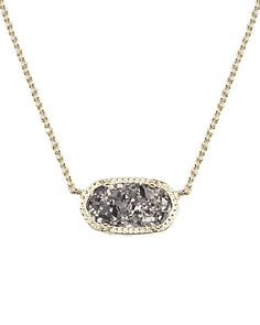 One of my fav presents!! Elisa Pendant Necklace in Platinum Drusy - Kendra Scott Jewelry