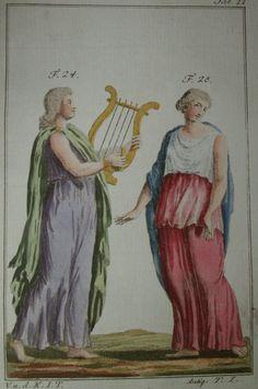 Antique--- Bild eines französischen Kostümbuches von ca 1770