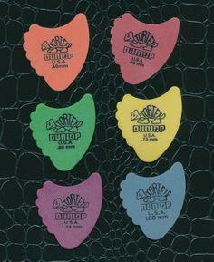 6 Dunlop Tortex Fins guitar picks  all different gauges #Dunlop #GuitarPicks