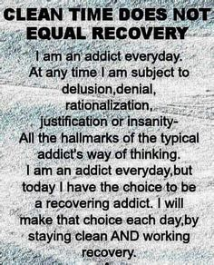 Addiction Recovery - I Love This Quote! I Need To Show This To The People I Love But Don't Understand What I Go Through Each & Every Single Day...