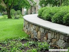 Walls, Firepits, Paths, you name it, Landscape Aesthetics can do it! All stone work is designed in house by our talented team and owner Carmin Fusco! Farmhouse Floor Plans, Modern Farmhouse, Landscaping On A Hill, Stone Masonry, Outdoor Living, Outdoor Decor, Stone Work, Stepping Stones, Backyard