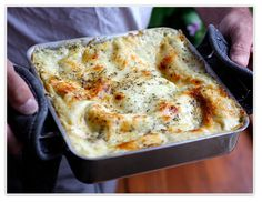 PestoLasagna - I tried pesto lasagna while in Italy this summer and I'm hoping to find a recipe so I can replicate the dish at home! It's delicious and a good vegetarian alternative to meat lasagna!