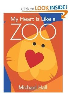 Book about making animals from hearts.  How perfect?  Gretchen wants a heart themed party and it's at the zoo.  Maybe this book can be inspiration.