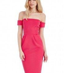 Bardot Structured Midi Dress – Cerise Was £45.00   Now £35.00 http://tidd.ly/4f749e9f