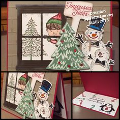 Snow Place Peaceful Pines Hearth & Home Thinlits Dies Christmas Cuties Stampin Up