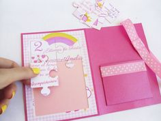 Puzzle invitation, with Grosgrain Ribbon and a pocket - Customizable - Model… 1 Year Old Birthday Party, 3rd Birthday, Birthday Parties, Peppa Pig Invitations, Wedding Invitations, Aniversario Peppa Pig, Cumple Peppa Pig, George Pig, Paw Patrol Party