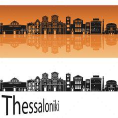 Buy Thessaloniki Skyline in Orange by paulrommer on GraphicRiver. Thessalonik skyline in orange background in editable vector file. Orange Architecture, Architecture Background, Building Illustration, City Illustration, City Vector, Website Design Inspiration, Tattoo Inspiration, Orange Background, Information Graphics