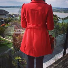 Red Coat with Bow <3