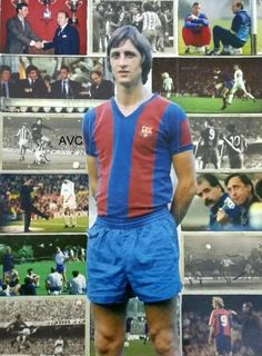 Johannes Cruijff OON was a Dutch professional football player and coach. As a player, he won the Ballon d'Or three times, in and Fc Barcelona, Football Jerseys, Football Players, Professional Football, West London, Ronaldo, Ballon D'or, Soccer, Rompers