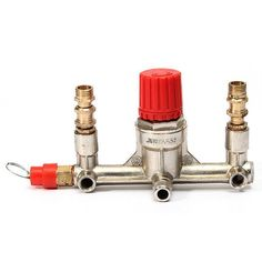 Air Compressor Double Outlet Tube Pressure Regulator Valve Fitting. Air Compressor Double Outlet Tube Pressure Regulator Valve Fitting   Description: Material:alloy steel Size:155 x 88 x 85mm/6.1' x 3.4' x 3.35' Zinc alloy Male Thread Dia.: Big: 21mm--1/2' PT  Small: 13mm--1/4'PT Zinc alloy Female Thread Dia.:8mm--1/8'PT Copper Male Thread Dia.:13mm--1/4'PT  Features: small standard pressure regulator with good sealing property  Package included: 1XAir Compressor Double Outlet Tube Pressure…