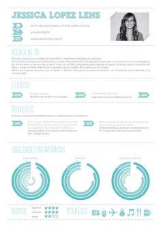 Tout aussi sobre, ce CV arbore une structure classique pour un CV. Les compétences sont joliment mises en avant même si leur lecture n'est pas aisée.