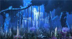 """Pandora - avatar.  Última foto hehe. Peguei essas do Avatar pq acho que vão um pouco pelo caminho que a gente quer seguir de algas, plantas, seres naturais... E essa iluminação """"LED"""" lembra o mar tbm... Acho que ambos seguem uma imagem e sentimento lúdicos muito parecidos, que chegam a ser tocantes <3 :)"""