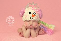 snowman baby hat!  awww...