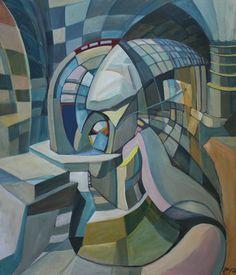 "Saatchi Online Artist Igor Marchenko; Painting, ""At the window."" #art"
