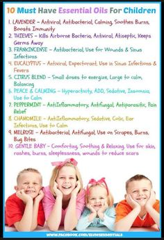 Essential Oils for KIDS: ADHD, cuts, colds, etc.