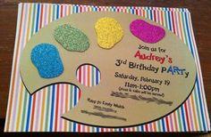art party invitations