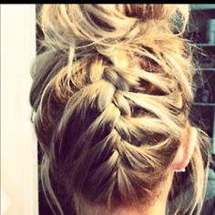 French Braided Bun.