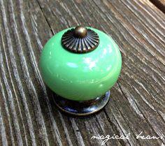 GREEN Ceramic Knob (7 colors avail)
